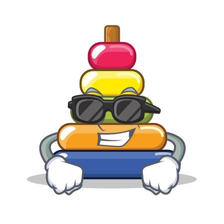 Super cool pyramid ring character cartoon