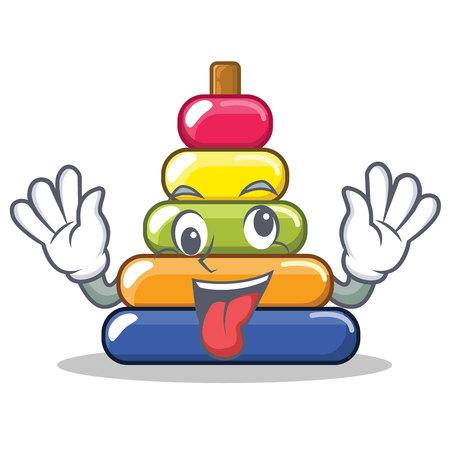 Crazy pyramid ring character cartoon Illustration