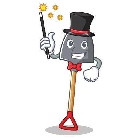 Magician shovel character cartoon style