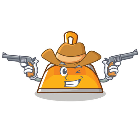 Cowboy dustpan character cartoon style vector illustration Illustration