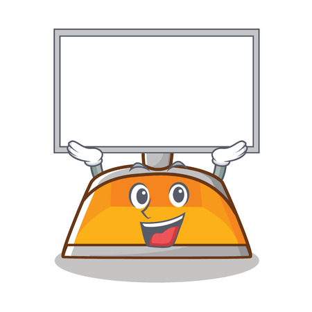 Up board dustpan character cartoon style vector illustration