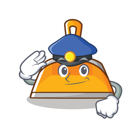 Police dustpan character cartoon style vector illustration Illustration