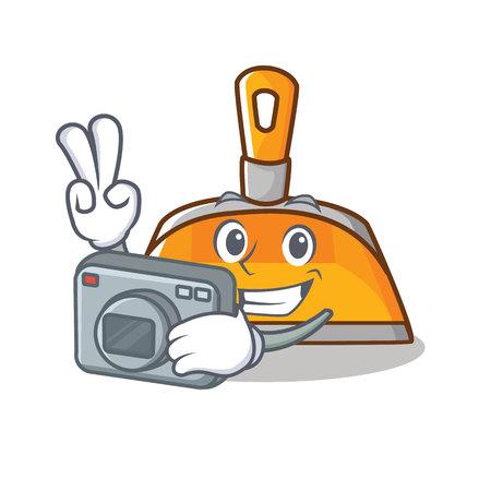 A Photographer dustpan character cartoon style vector illustration