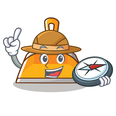 Explorer dustpan character cartoon style vector illustration