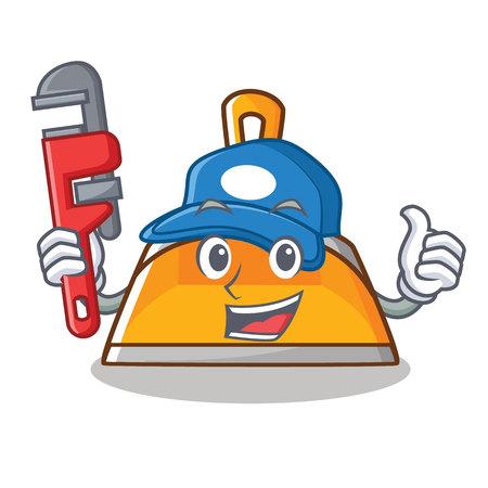 Plumber dustpan character cartoon style vector illustration