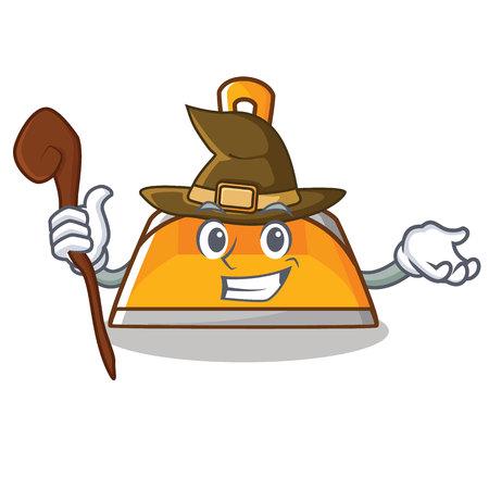 Witch dustpan character cartoon style vector illustration Illustration