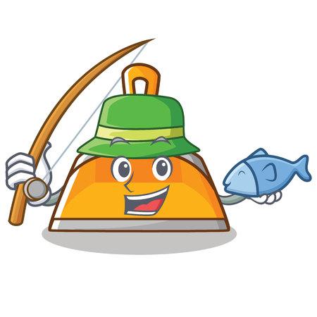 Fishing dustpan character cartoon style vector illustration Illustration