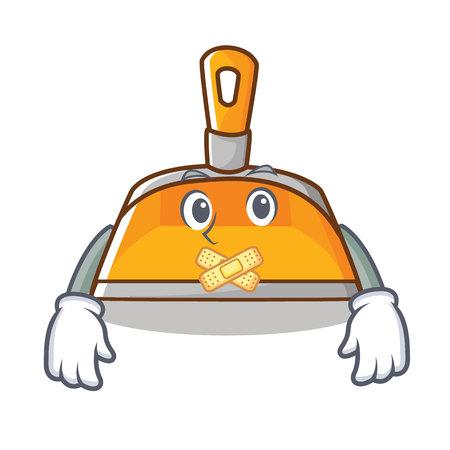 Silent dustpan character cartoon style vector illustration Illustration