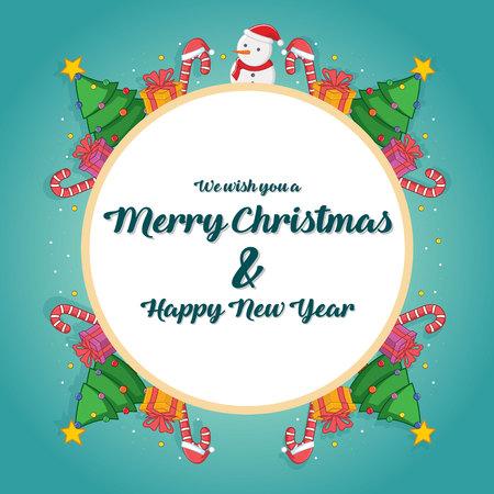 Greeting card of Christmas theme vector illustration Illustration