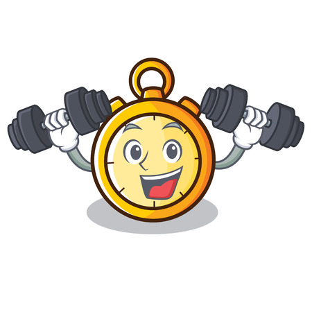 Fitness chronometer character cartoon style vector illustration