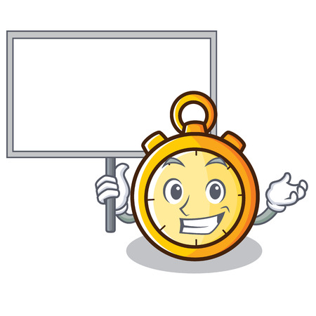 Bring board chronometer character cartoon style vector illustration