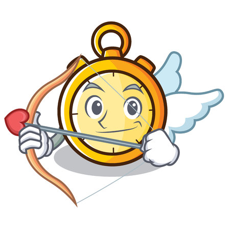 Cupid chronometer character cartoon style
