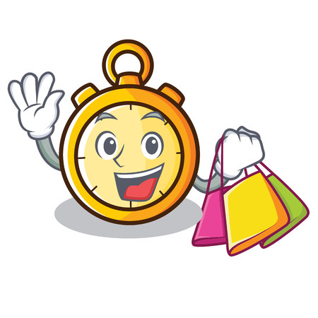 Shopping chronometer character cartoon style vector illustration Illustration