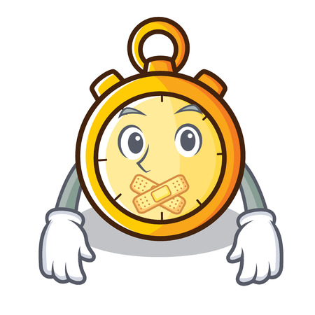 Silent chronometer character cartoon style Vectores