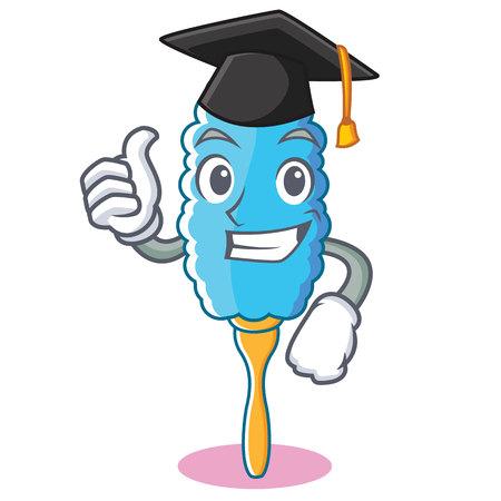 Graduierung Feder Staubtuch Charakter Cartoon Vektor-Illustration Standard-Bild - 91363867
