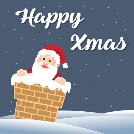 Cute Card Christmas With Santa