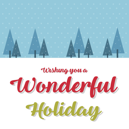 Merry Christmas Cute Card Design Vector Illustration Illustration
