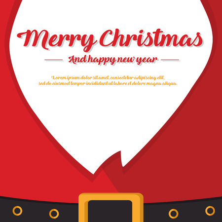 Merry Christmas Cute Card Design Illustration