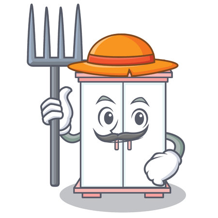 Farmer cabinet character cartoon style vector illustration