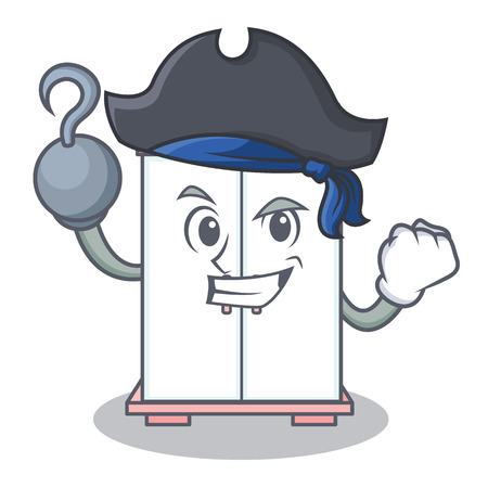 Pirate cabinet character cartoon style vector illustration
