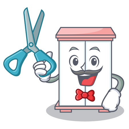 Barber cabinet character cartoon style vector illustration Illustration