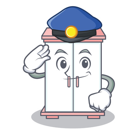 Police cabinet character cartoon style Illustration
