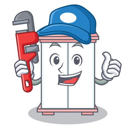 Plumber cabinet character cartoon style vector illustration Illustration