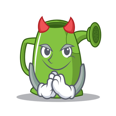 Devil watering can character cartoon vector illustration Иллюстрация