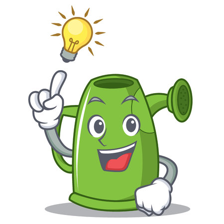 Have an idea watering can character cartoon vector illustration