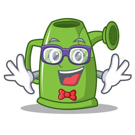 Geek watering can character cartoon vector illustration Illustration