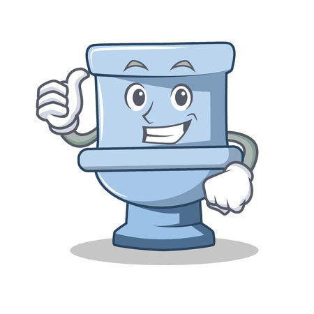 Thumbs up toilet character cartoon style