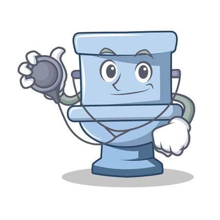 Doctor toilet character cartoon style 矢量图像