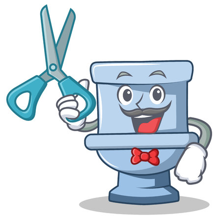 Barber toilet character cartoon style