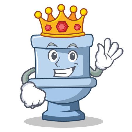 King toilet character cartoon style vector illustration