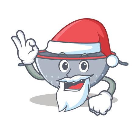 Santa colander utensil character cartoon vector illustration Illustration