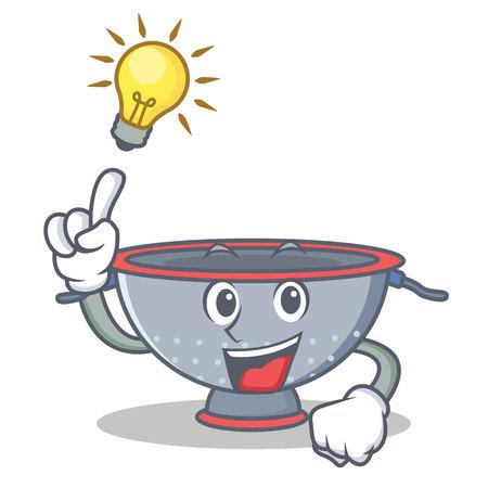 Have an idea colander utensil character cartoon