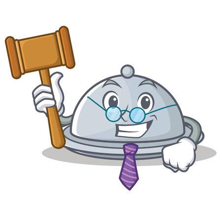 Judge tray character cartoon style, vector illustration.