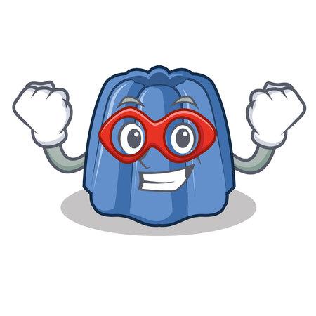 Super hero jelly character cartoon style, vector illustration.