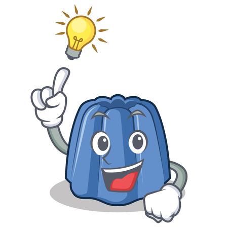 Have an idea jelly character cartoon style, vector illustration.