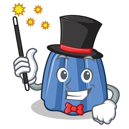 Magician jelly character cartoon style