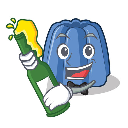 With beer jelly character cartoon style vector illustration Illustration