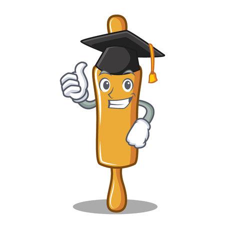 Graduation rolling pin character cartoon