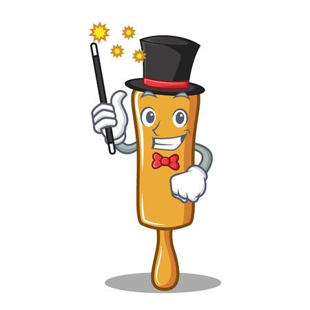 Magician rolling pin character cartoon vector illustration