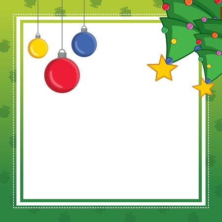 Christmas frame cute design collection vector illustration
