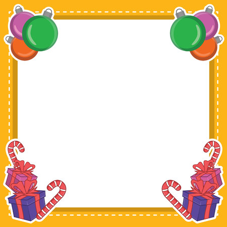 Frame Of Christmas Style Collection Vector Illustration Illustration