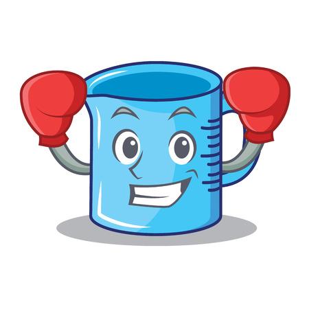 Boxing measuring cup character cartoon vector illustartion Vectores