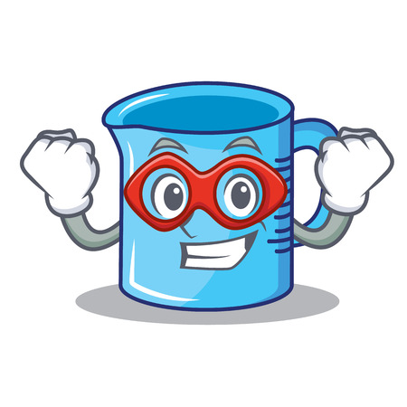 Super hero measuring cup character cartoon vector illustartion
