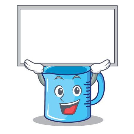 Up board measuring cup character cartoon vector illustartion