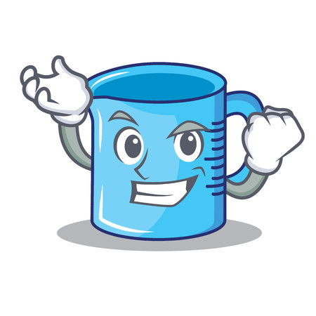 Successful measuring cup character cartoon vector illustartion