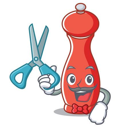 Pepper mill cartoon illustration. Illustration